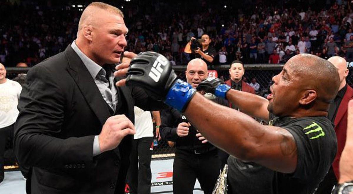 Daniel Cormier y Brock Lesnar en UFC