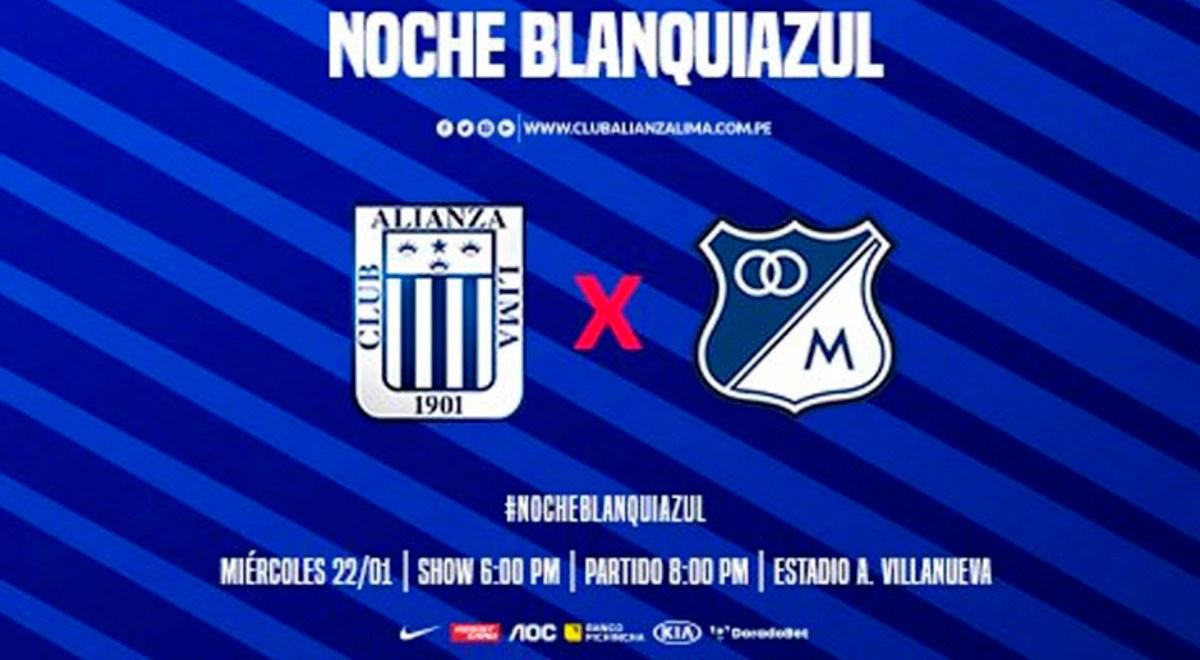 Alianza Lima Vs Millonarios Gol Peru En Vivo En La Noche Blanquiazul 2020 Guia Tv