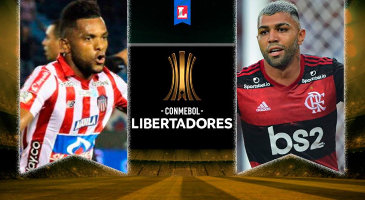 Resultado de imagen de junior vs flamengo copa libertadores