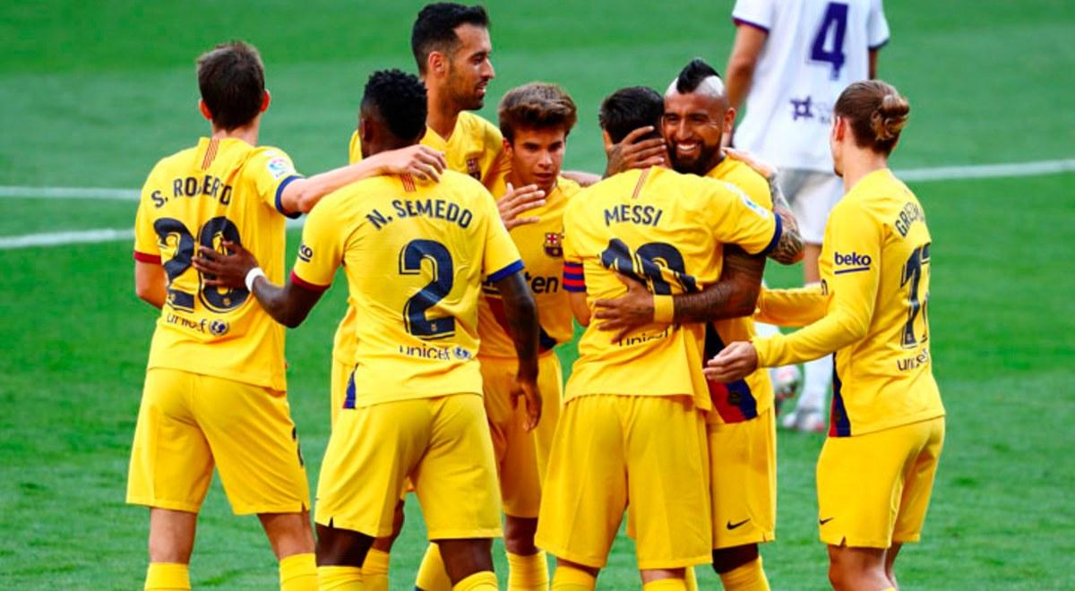 Barcelona ganó 1-0 a Valladolid y se pone momentáneamente a uno del Real Madrid | RESUMEN VIDEO GOL | libero.pe