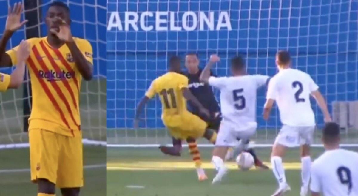 Barca TV ONLINE Ver gol de Ousmane Dembele Barcelona vs Nastic VIDEO 1-0 Ronald Koeman amistoso Laliga Espana YouTube | libero.pe