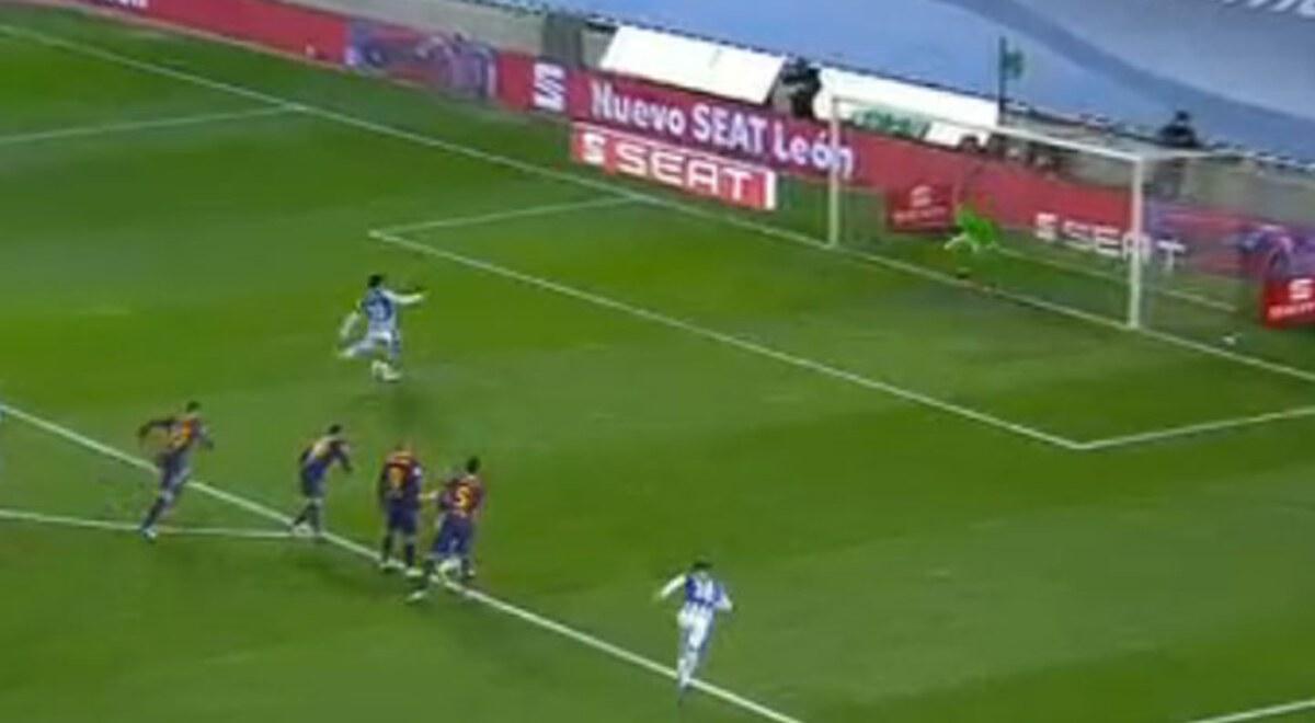 YouTube: Barcelona vs Real Sociedad EN VIVO ver gol penal ...