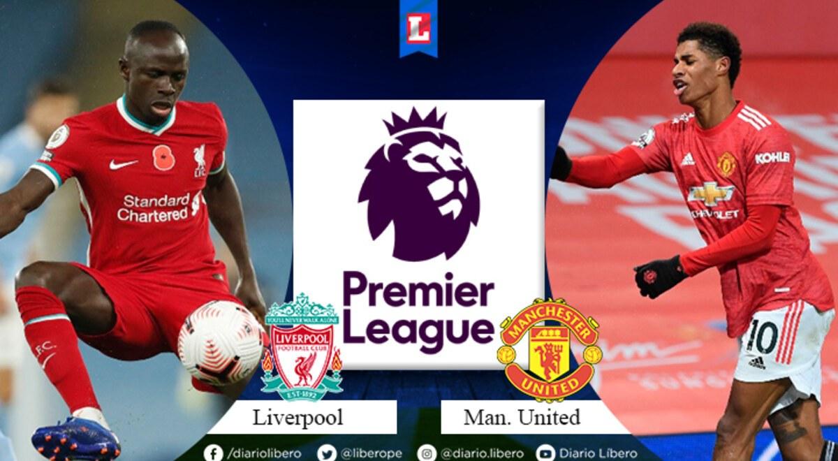 Liverpool vs. Manchester United EN VIVO: 1T, 0-0 por fecha 19 Premier League