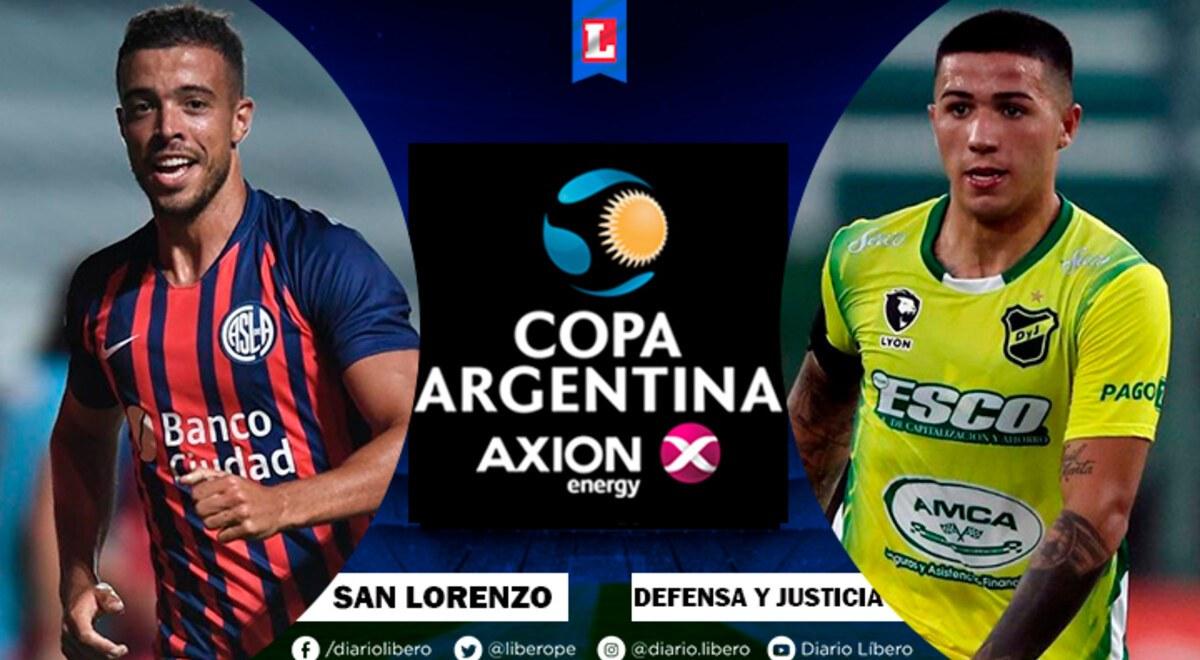 San Lorenzo vs Defensa y Justicia EN VIVO TyC Sports Hora Canal TV  Formaciones cuando juegan y donde ver partido Copa Diego Maradona 2021  Futbol Argentino TyC Sports Play | libero.pe