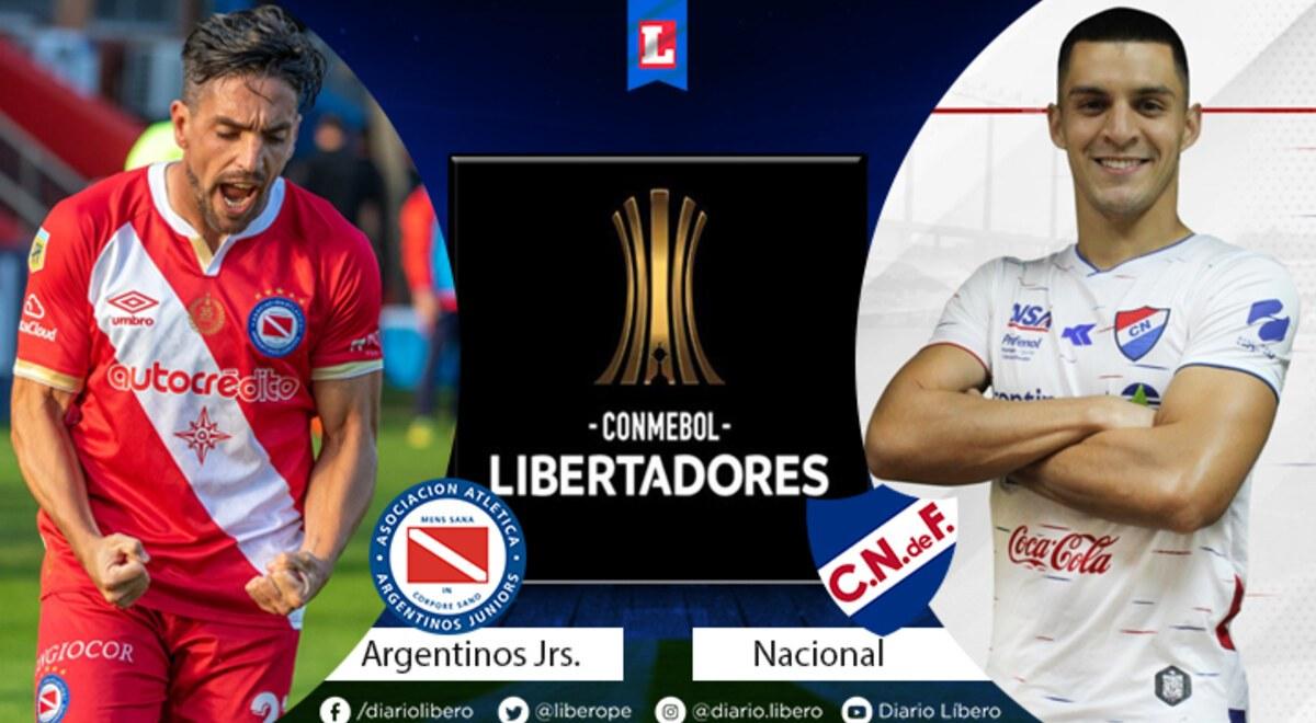 Argentinos Jrs vs Nacional EN VIVO ESPN 2 Hora Canal de TV Links Streaming  Formaciones cuando juegan donde pasan y como ver transmision partido EN  DIRECTO Copa Libertadores Facebook Watch Argentina Uruguay |