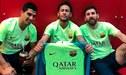 Barcelona: Neymar se juntó con Lionel Messi y Luis Suárez para recrear festejo de la 'Pulga'