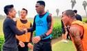 Universitario: Raúl Ruidíaz visitó a los jugadores cremas durante los entrenamientos [FOTOS]