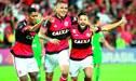 Paolo Guerrero fue figura en el triunfo de Flamengo por 2-0 sobre Santos