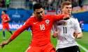 ¡NO LO EXPULSARON! El descomunal codazo de Jara sobre la cara de un jugador alemán [VIDEO]