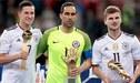 Claudio Bravo se llevó el Guante de Oro y Julian Draxler el premio Mejor Jugador de la Copa Confederaciones