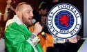 Conor McGregor se lleva un baño de cerveza por cantar una canción del Celtic