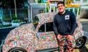 Youtuber brasileño tapiza su auto con figuritas del álbum del Mundial [VIDEO]