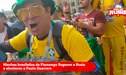 Hinchas brasileños de Flamengo llegaron a Rusia y alentaron a Paolo Guerrero [VIDEO]