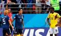 Colombia vs. Japón: Carlos Sánchez es el primer expulsado del mundial Rusia 2018 [VIDEO]