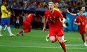 ¡Contra letal! Kevin de Bruyne anotó el 2-0 de Bélgica ante Brasil tras jugadón de Lukaku