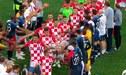 ¡PARA APLAUDIR! Croacia y Francia tuvieron gesto de caballerosidad: haciendo pasillo de honor en la premiación del Mundial Rusia 2018