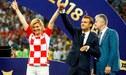 ¡PARTIDO APARTE! El encuentro que se jugó en las tribunas entre los presidentes de Francia y Croacia