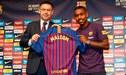 Malcom fue presentado como nuevo jugador del Barcelona [VIDEO]
