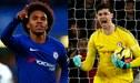 Chelsea aceptaría la oferta de más de 130 millones por Willian y Courtois