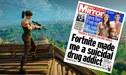 """Portada de Mirror: """"Fortnite me convirtió en drogadicto suicida"""""""