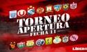 Torneo Apertura 2018: Así quedó la tabla de posiciones de la fecha 11