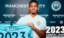 Gabriel Jesús renovó con el Manchester City hasta el 2023 [VIDEO]