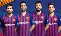 Con Messi, Busquets, Piqué y Sergi Roberto, Barcelona presentó su póker de capitanes