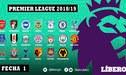 Premier League 2018: programación, resultados EN VIVO y tabla de posiciones de la fecha 1