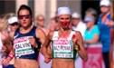 ¡Impactante! Atleta bielorrusa estuvo con la cara llena de sangre en plena carrera [VIDEO]