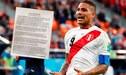 Paolo Guerrero: La última chance del delantero peruano de anular sanción del TAS [FOTO]