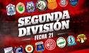 Segunda División: Así marcha la tabla de posiciones tras la fecha 21