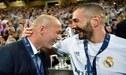 """Zinedine Zidane: """"Karim Benzema es el mayor creador de juego que he conocido"""""""