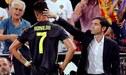DT del Valencia reveló las palabras de Cristiano Ronaldo tras ser expulsado en la Champions League