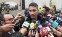 """Paolo Guerrero tras su salida del Swissotel: """"El hotel afirma que podíamos meter bebidas alcohólicas"""" [VIDEO]"""