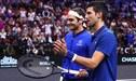 Novak Djokovic y su casual pelotazo a Roger Federer [VIDEO]
