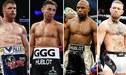Saúl 'Canelo' Álvarez-Gennady Golovkin, la quinta pelea que más recaudó en el boxeo