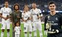Real Madrid vs. Atlético Madrid: Luka Modrić y Thibaut Courtois presentaron sus premios The Best al público de Santiago Bernabeu [FOTOS]