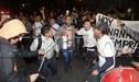 Hinchas realizaron banderazo crema en la concentración de Universitario [VIDEO]