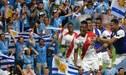¡Es hermandad! La celebración de la afición uruguaya en la victoria de Perú sobre Chile