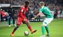 Werder Bremen, con Claudio Pizarro, perdió 1-2 Bayern Múnich por la Bundesliga