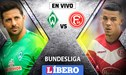 Werder Bremen vs Düsseldorf EN VIVO: con Claudio Pizarro, chocan por la Bundesliga