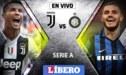 Juventus vs Inter de Milán EN VIVO por la jornada 15 de la Serie A