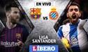 Barcelona vs Espanyol EN VIVO: partidazo por el derbi catalán por la Liga Santander