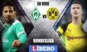 Werder Bremen vs Borussia Dortmund EN VIVO: con Claudio Pizarro, juegan por la Bundesliga