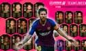 Con Messi con su primera carta IF, el 'Equipo de la Semana 14' en el FIFA 19