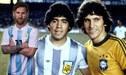 Zico y sus argumentos para considerar a Maradona por encima de Lionel Messi [VIDEO]