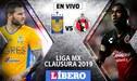 Tigres vs Tijuana EN VIVO: Partido por el Clausura de la Liga MX