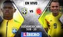 Colombia 0-0 Brasil EN VIVO por el Sudamericano Sub-20 'Chile 2019'