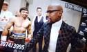 Floyd Mayweather visitó a Manny Pacquiao en el MGM Garden y le deseó suerte frente a Broner [VIDEO]