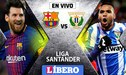 Barcelona vence 2 - 1 a Leganés  EN VIVO ONLINE por la Liga Santander | GUÍA TV